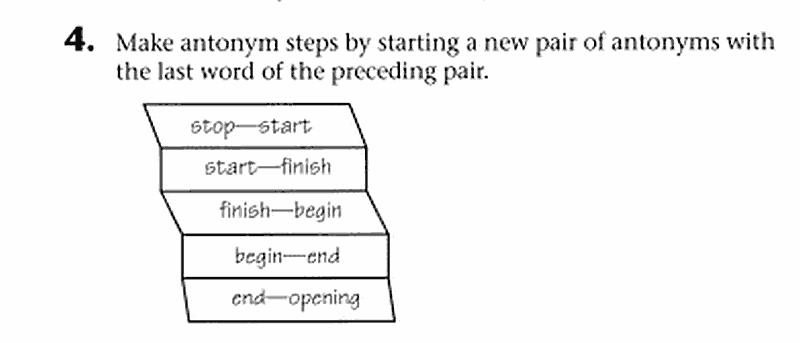 Puzzle: Antonym Paths