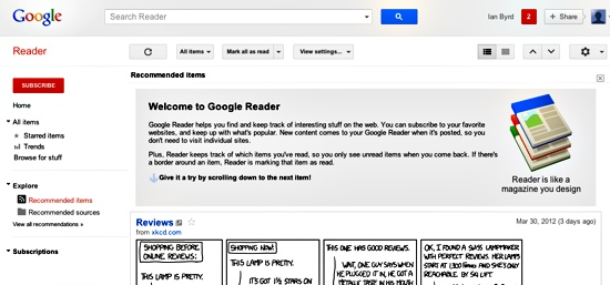 Finding Inspiration With Google Reader