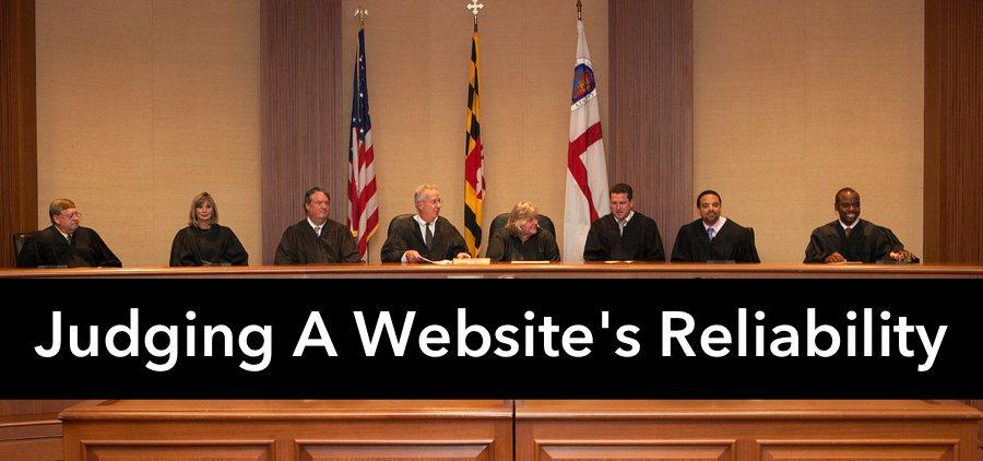 Judging a website's reliability
