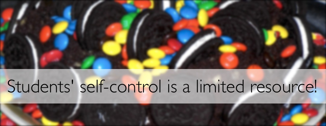 Self control is a limited resource!