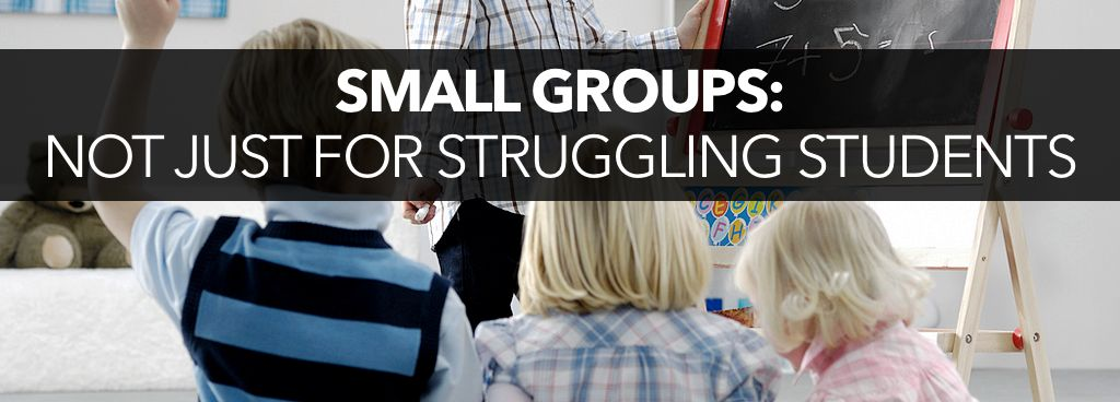 Small groups can add complexity for advanced students.