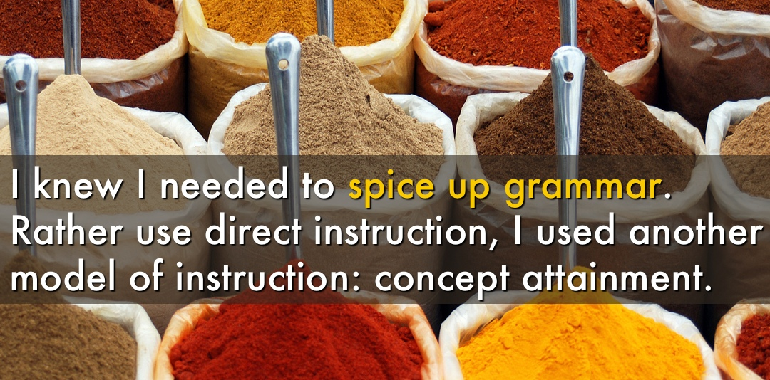 Can You Spice Up Grammar?