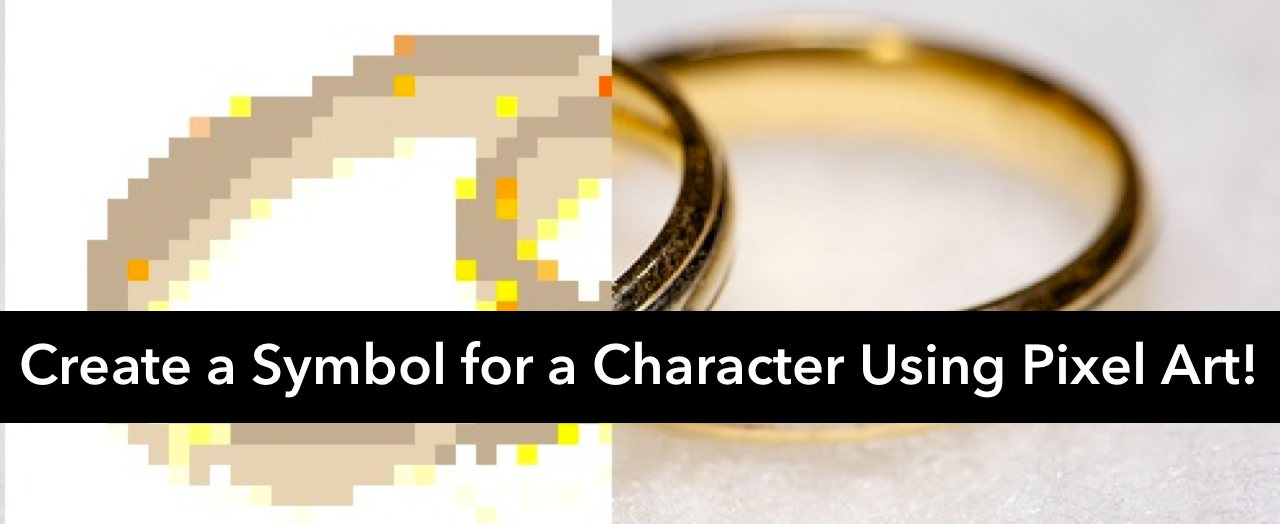 Create a symbol for a character using pixel art!