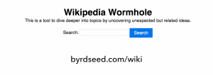 The Wikipedia Wormhole